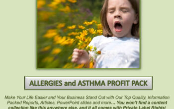 Allergies and Asthma PLR Profit Pack