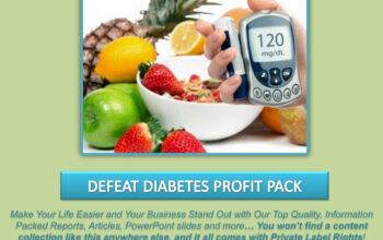 Defeat Diabetes PLR Profit Pack
