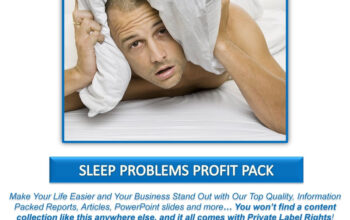 Sleep Problems PLR Profit Pack